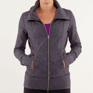 lululemon athletica Jackets & Coats - Lululemon herringbone black swan yoga jacket